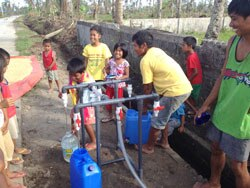 A system set up by Water Missions International provides safe drinking water to people in the Philippines