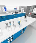 3D Virtual Lab Selection